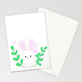 White bunny Stationery Cards