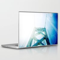 oakland Laptop & iPad Skins featuring oakland bay bridge  by Ciara Rose Photography