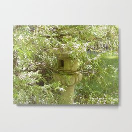 Hidden Pagoda In Lush Landscape Metal Print