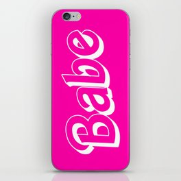Babe Doll Look iPhone Skin