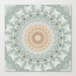 Mandala Snow Queen Canvas Print