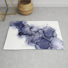 Purple Wispy: Original Abstract Alcohol Ink Painting Rug