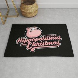 I want a hippopotamus for Christmas Rug
