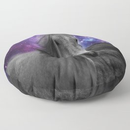 Horse Rides & Galaxy skies muted Floor Pillow