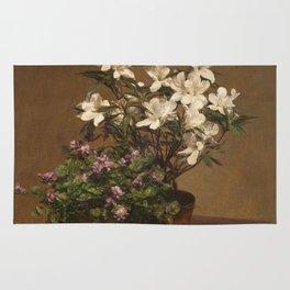 Henri Fantin Latour - Violetas Y Azaleas Rug