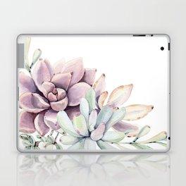 Desert Succulents on White Laptop & iPad Skin