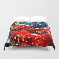 sparkles Duvet Covers featuring Christmas Sparkles by Nicklas Gustafsson
