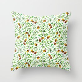 Pine Cone Pattern Throw Pillow