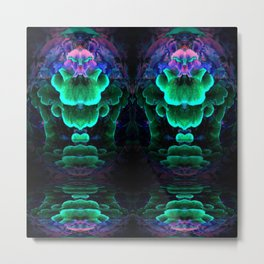 Glowing Polypore Metal Print