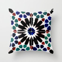 Time-worn tiles Throw Pillow