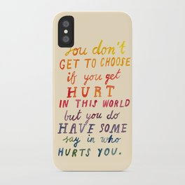 If You Get Hurt Poster iPhone Case