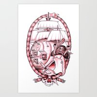 Captain Blackshell Art Print