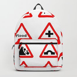 15 Triangle Traffic Signs Backpack