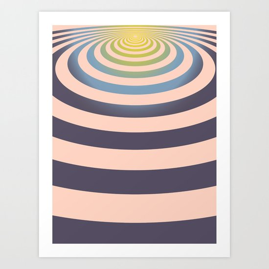 Circle around asymmetrically - Optical game Art Print