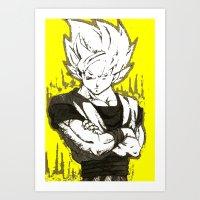 goku Art Prints featuring GOKU  by DeMoose_Art