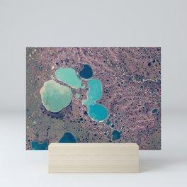 Lakes on Jamal Peninsula, Russia Mini Art Print