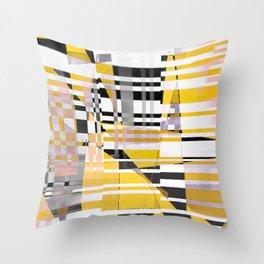 barcode splash. bumblebee Throw Pillow