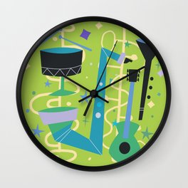 Midcentury Modern Fifties Jazz Composition Wall Clock