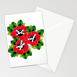Traditional Tattoo Roses Stationery Cards