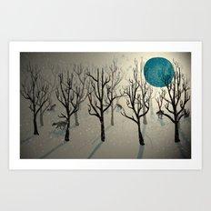 Among the Wolves... Art Print