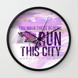 I run This City Wall Clock