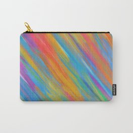 Color Overload Painting / Watercolor Hand Painted Tie-Dye Effect Gradient / Orange Yellow Blue Pink Carry-All Pouch