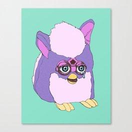 Purple Furby Canvas Print
