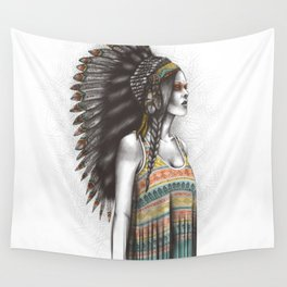 Silent Warrior Wall Tapestry