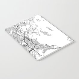 The Bronx White Map Notebook