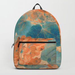 Blue and Orange Autumn Leaves Backpack
