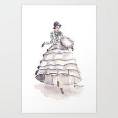 Art Deco Feminine Equestrian Art Print