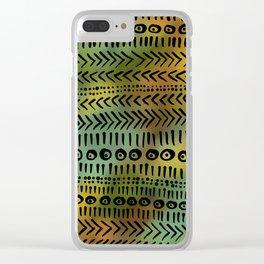 Batik 1 fall colors Clear iPhone Case