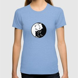Cute cats Yin Yang sign T-shirt