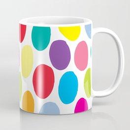 Colour Spots White Coffee Mug