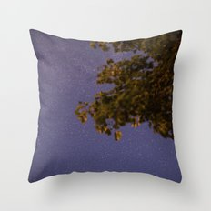 Space gazing at the Norwegian night sky Throw Pillow
