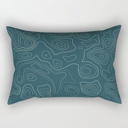 Topographic Map 03A Rectangular Pillow