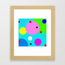 polka dots lasoffittadiste Framed Art Print