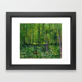Vincent Van Gogh Trees and Undergrowth 1887 Framed Art Print