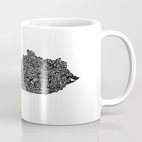 kentucky Mugs featuring Typographic Kentucky by CAPow!