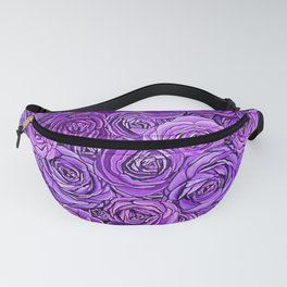 valentines roses in purple / ultraviolet Fanny Pack
