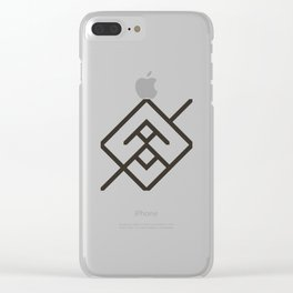 Waveform Clear iPhone Case