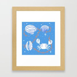 Clam, Crab, Cockle, Cowrie Framed Art Print