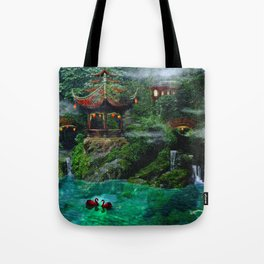 Tale of the Red Swans Tote Bag