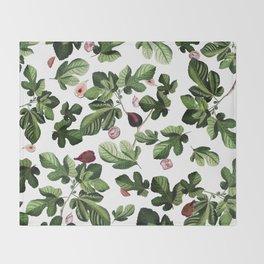 Figs White Throw Blanket
