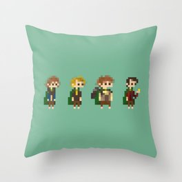 Frodo, Sam, Pippin and merry Throw Pillow