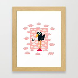 Birdy! Framed Art Print