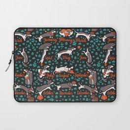 Dachshund year - lettering pattern Laptop Sleeve