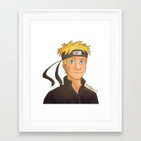 naruto Framed Art Prints featuring Naruto by Shaungart
