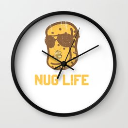 Nug Life - Distressed Design for Chicken Nugget Fans Wall Clock