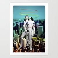 sex and the city Art Prints featuring Sex in the City by Collage Calamity